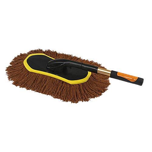 YBWEN Staubwedel Clean Dirt Dust Brush Staubwerkzeug Mop Autoinnenreinigung und Heimgebrauch Staubbürste Einfach zu bedienen Schwämme, Tücher & Bürsten (Farbe : Braun, Größe : Einheitsgröße)