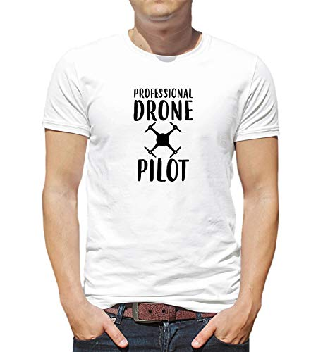 68dd01df5 LumaShirts Professional Drone Pilot Funny Quote Fly_001228 T-Shirt Birthday  Christmas Gift for Him XL