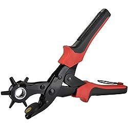 Idealeben Perforadora de cuero agujero alicates de sacador metálica de múltifuncional de la Correa de 2-4.5mm ideal para la correa de reloj,cinturón de cuero,tarjeta de papel y varios cinturones y bolsos etc