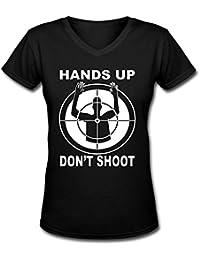 Cling Mujer Negro Vida Cuestión camiseta de cuello de pico