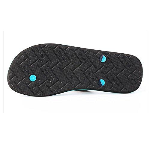 ALUK- Sandales d'été - Pantoufles d'hommes avec l'Europe et les États-Unis Tendance de chaussures de plage ( Couleur : Noir , taille : 39 ) Noir