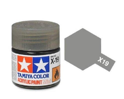 Tamiya Models X-19 Mini Acrylic Paint, Smoke