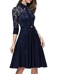 9232c33d24 Vestido de fiesta de noche Estilo vintage de los años 50 para mujer Vestido  de novia