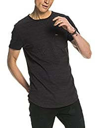 Scotch & Soda Herren T-Shirt Shortsleeve Tee with Curved Both Hem in Melange Jersey Quality