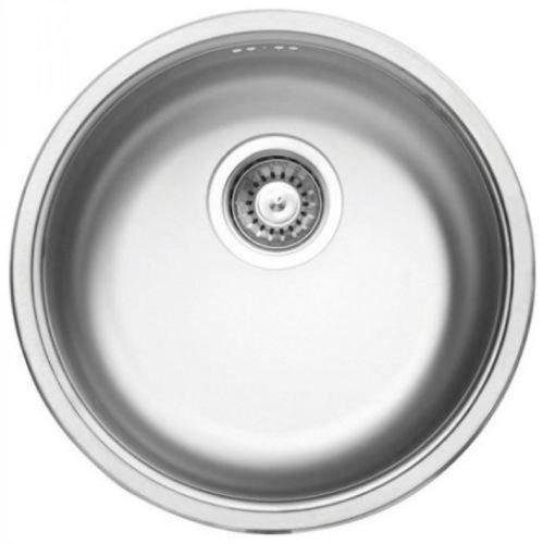 Einbauspüle Edelstahl Spülbecken Küchenspüle Edelstahlspüle Waschbecken CORNETTO 43,5cm x 43,5cm ZHC 0803