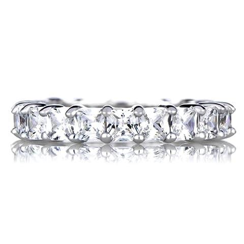 Princess Cut CZ Ring Eternity stapelbar