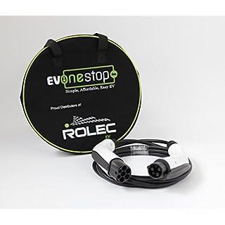 EV / Ladekabel für Elektrofahrzeuge | Typ 1 zu Typ 2 | 32 Ampere (7.2kW) | 5 Meter | Kostenlose Tragetasche | Outlander, Nissan leaf 2012-2017 |