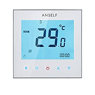 Anself 3A 110–230V Programmierbar wöchentliche Display LCD Touch Screen Wasser Heizung Thermostat Room Controller Temperatur
