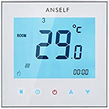 Anself ¡Práctico! 3A 110-230V Termostato de calefacción de habitación programable semanal digital eléctrico de LCD pantalla táctil de controlador de temperatura de alta calidad