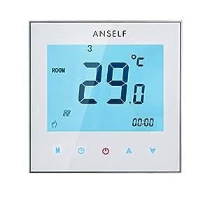 Anself 3A 110-230V programmabile settimanale Display LCD Touch Screen Acqua riscaldamento termostato Room Controller temperatura