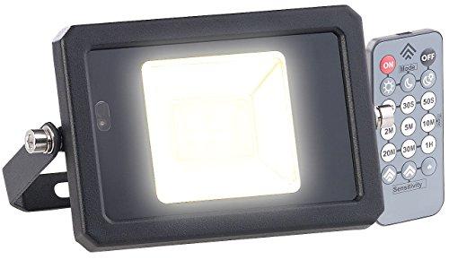 Luminea LED Strahler: Wetterfester LED-Fluter, Radar-Bewegungssensor, Fernbedienung, 10 W (LED Strahler mit Fernbedienung)