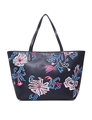 Desigual - Bag Orangina Capri Zipper Women, Shoppers y bolsos de hombro Mujer, Azul (Navy), 13x28x30 cm (B x H T) de Desigual