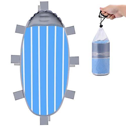 d mit aufblasbaren Kissen, aufblasbare Matratze 5 Sekunden ist gefüllt, Beach Blanket Mat atmungsaktivem Stoff für Outdoor-Reisen verwendet,A ()