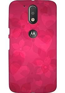 AMEZ designer printed 3d premium high quality back case cover for Moto G4 Plus (pink floral nature)