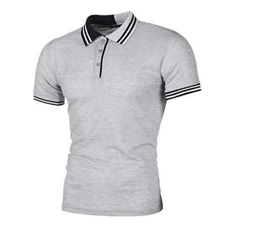 T Shirt Herren Cramberdy T Shirts Männer Slim Fit Kurzarm Bluse Top Sport männlich Sport T-Shirt Männer Freizeit Tops Herren Poloshirt Kurzarm Shirt Sweatshirt Hemd Kurzarmshirt Herren Oberteile