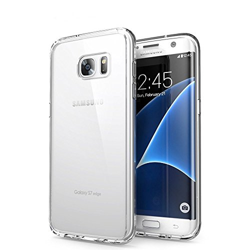 Orlegol custodia galaxy s7 edge, crystal case samsung s7 edge cover silicone morbida tpu bumper case anti-graffio protettiva custodia per samsung galaxy s7 edge case cover - trasparente