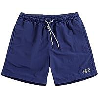 Hombre Verano Pantalones Cortos - Moda Cintura Elástica Secado Rápido Bañadores de Natación Casuales Nadando Surf Pantalones de Playa Trajes de Baño