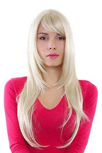 Perücke, Wig lange glatte Haare helles blond GFW09-613 70cm