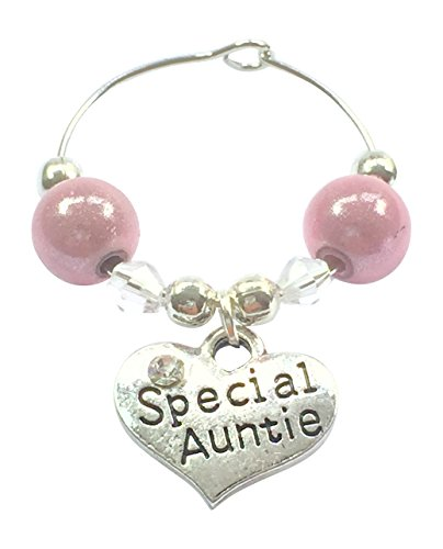 Special Auntie Wine Glass Charm comes in Gift Card Handmade by Libby's Market Place by Libby's...