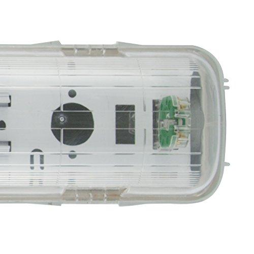 Preisvergleich Produktbild LED Feuchtraumlampe Wannenhalterung 150cm single ohne EVG - IP65