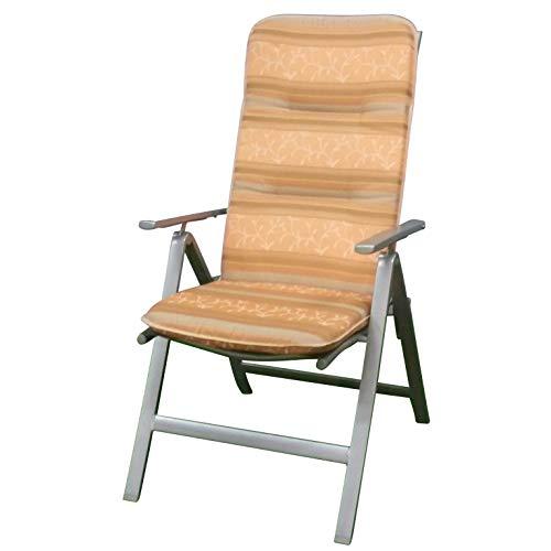 Auflagen für Hochlehner Sessel Gartenstuhl Kissen Polster Dessin 0701 in Terra
