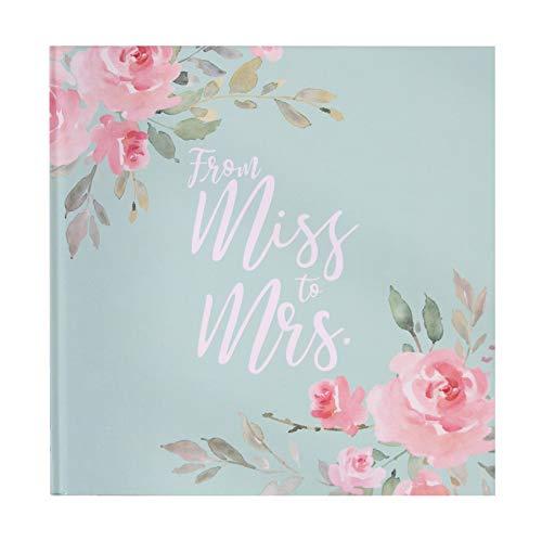 Gäste-Buch Foto-Album from Miss to Mrs in Mint-grün, rosa, pink & Gold mit Blumen-Motiv-en - Gäste-Buch Junggesellinnen-Abschied, JGA-Party Photo-Album Braut Frau-en Accessoire & Zubehör
