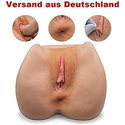 SHEQU Realistische Pussy Masturbatoren 3D Silikon Vagina und Arsch Liebes Puppe Masturbator Sex Spielzeug für Männer Masturbation