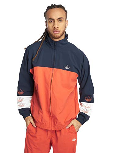 Adidas Blocked Warm Up Raw Amber Navy M Warm Up Windbreaker Jacken