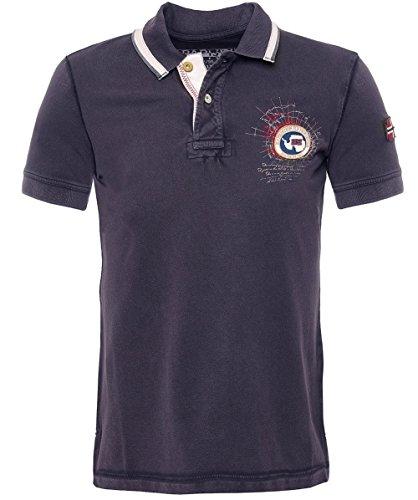 Napapijri Uomo Gandy camicia di Polo del piquè XXXL Vulcano