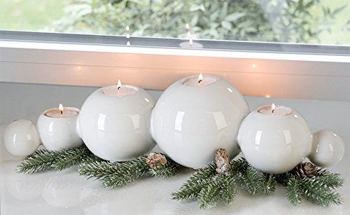Leuchter Whiteball Keramik,weiss L.43cm -