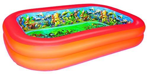 Bestway Planschbecken Splash &Play 3D Adventure Family Pool, 262x175x51 cm