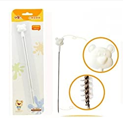 HOME CUBE Cute And Flexible Baby Bottle Straw Cleaning Brush ( Pack of 1 )