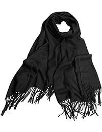 Katesid Echarpe Femme Châle à Frange Cachemire Imitation en Couleur Unie  Douce Epais Chaud Hiver a0d6e38a45c