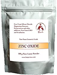 Zinc Oxide Powder - Cosmetic Grade - 100g Pure Powder Packed In A Resealable Stand-up Pouch.