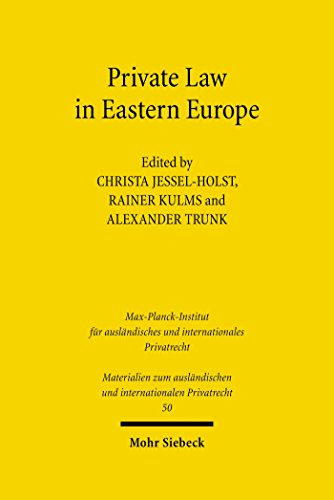 Private Law in Eastern Europe: Autonomous Developments or Legal Transplants? (Materialien zum ausländischen und internationalen Privatrecht)
