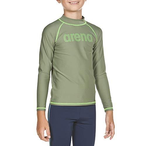 ARES5 Arena Jungen Sonnenschutz Langarm Shirt Uv, Army-Shiny Green, 164