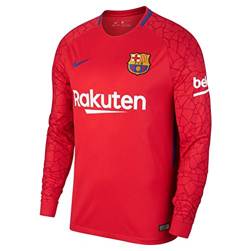 Brand new, official Barcelona Away Goalkeeper Shirt for the 2017 2018 season. This is the new mens Barcelona goalkeeper shirt which is available to buy online in a full range of adult size S, M, L, XL, XXL, XXXL and is manufactured by Nike.Add the na...