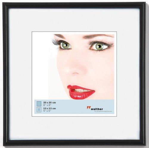 walther design KB220H Galeria Kunststoffrahmen 20 x 20 cm, schwarz (20x20 Bilderrahmen)