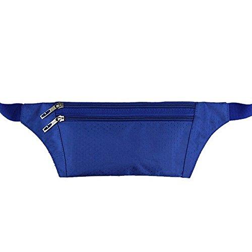 Lmeno® Uomo Donna Borsone da viaggio Marsupio da running Marsupio sport Fitness Borsello Borsa Bum Viaggi Pouch Pack con cintura regolabile Blu