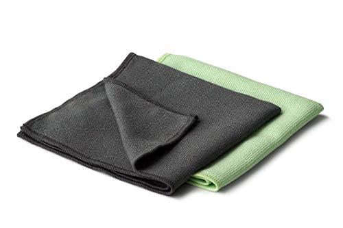Set of 2 magic stainless steel microfiber cloths, 30 x 30 cm, 2 units