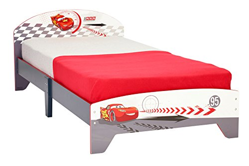 Disney Cars Kinderbett grau/weiss/rot Jungenbett Bett Lightning McQueen Holzbett