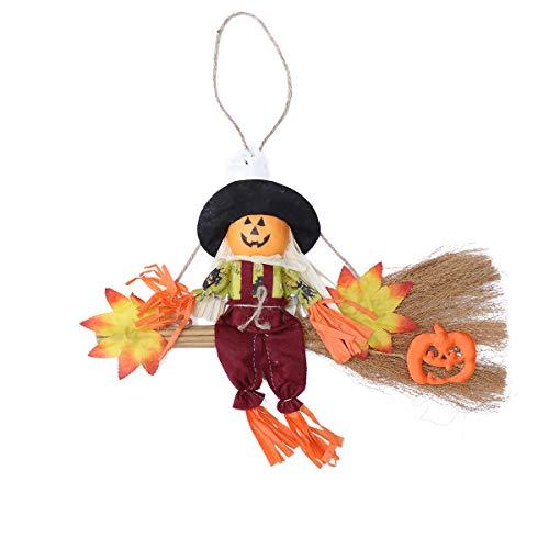 Amosfun Hanging Ornament Anhänger Requisiten Hexe Besenstiele Halloween Spukhaus (Halloween Hexe Requisiten)