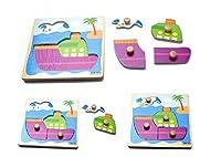 b2e985537896 Hosaire 1x Rompecabezas de Madera para Niños de 2 a 5 años,Puzzles 3D,Niños  Bebé Temprano Juguete Educativo Aprendizaje en el Hogar Educación  Preescolar ...