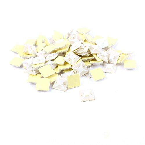 25 mm x 25 mm eckig weiß Kabel Band selbstklebend Typ Boden 150 Stücke Selbstklebende Square-band