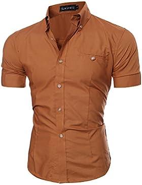 Juleya Camicie Uomo Slim Fit Camicia Formale Manica Lunga Casual Top Camicia Moderna Morbida e Confortevole Tinta...