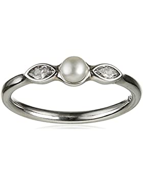 Pandora Damen-Ring Leuchtende Petite Blätter 925 Silber Zirkonia weiß - 190964P