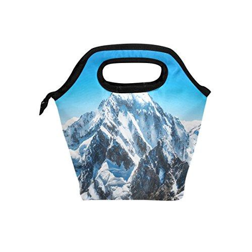 jstel Mountain Peak Everest Lunch Bag Handtasche Lunchbox Frischhaltedose Gourmet Bento Coole Tote Cooler Warm Tasche für Reisen Picknick Schule Büro -