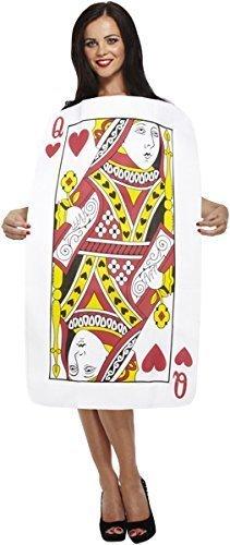 Henbrandt Déguisement pour adulte en forme de carte à jouer Dame de cœur
