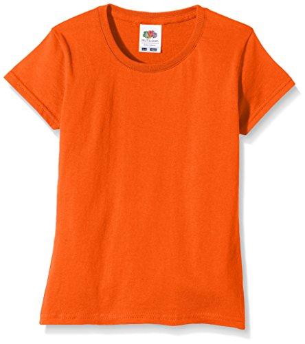 Fruit of the Loom Mädchen Softspun T-Shirt - 10 Farben / Ages 3- - Orange - 1213