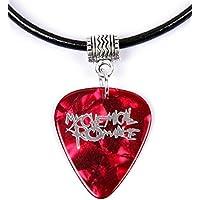 My Chemical Romance collana con plettro di chitarra logo argento MCR